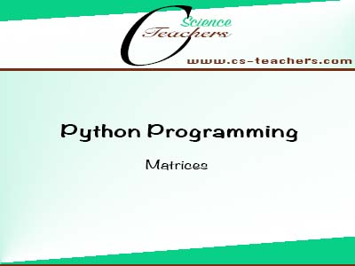 Matrices in Python